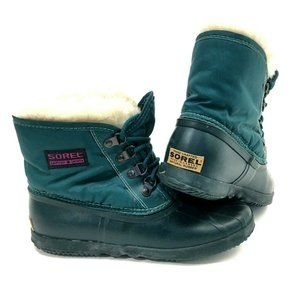 VTG Teal Green Sorel Tromper II Snow Winter Short